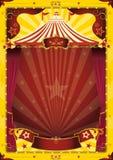 大马戏海报顶部黄色 图库摄影