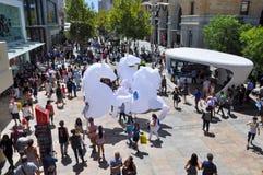 大马木偶表现:珀斯,澳大利亚 免版税库存图片