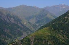 大高加索山脉的山Ilisu自然储备的,西北阿塞拜疆 图库摄影