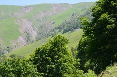 大高加索山脉的山Ilisu自然储备的,西北阿塞拜疆 库存图片