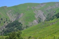 大高加索山脉的山Ilisu自然储备的,西北阿塞拜疆 免版税库存图片