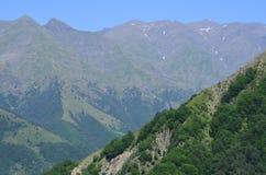 大高加索山脉的山Ilisu自然储备的,西北阿塞拜疆 免版税图库摄影