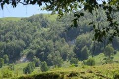 大高加索山脉的山Ilisu自然储备的,西北阿塞拜疆 库存照片