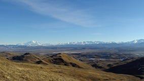 大高加索山脉视图 免版税库存照片