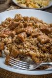 大麦少量用被炖的肉 库存照片