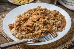 大麦少量用被炖的肉 免版税库存图片