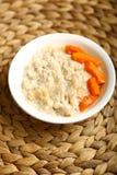 大麦粥用南瓜蜂蜜和片断  库存照片