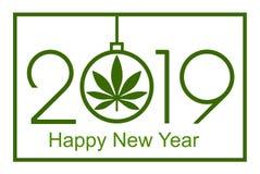 大麻在新年,2019年 库存照片