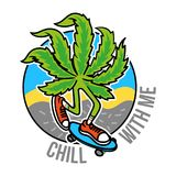 大麻溜冰者 向量例证