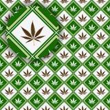 大麻详细资料纹理 库存例证