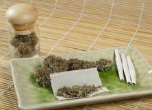 大麻9 库存照片