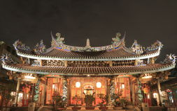 大龙峒宝安寺庙台北台湾 图库摄影