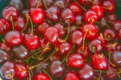 大,成熟,水多,明亮的樱桃 浆果甜点 大 库存照片