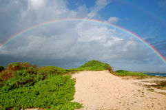 大,美丽的彩虹 免版税图库摄影