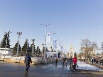 大滑冰场在莫斯科 免版税库存照片