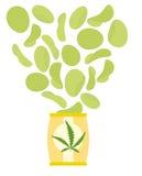 大麻和大麻芯片 草本绿色芯片 与口味o的芯片 免版税库存照片