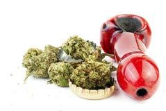 大麻和酒精 免版税图库摄影