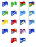 大洋洲国家传染媒介例证旗子  库存照片