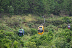 大叻在罗宾小山,越南的缆车方式 免版税库存照片