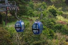 大叻在罗宾小山,越南的缆车方式 库存照片