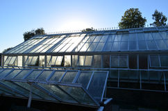 大维多利亚女王时代的样式庭院温室 库存图片