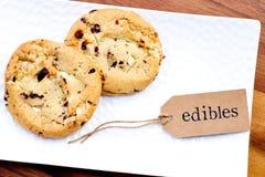 大麻-大麻-医药Edibles -曲奇饼 免版税图库摄影