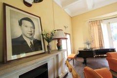 大叻市保大帝颐和园在越南 免版税图库摄影