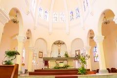 大叻市大教堂鸡教会 免版税图库摄影