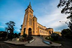 大叻市大教堂  库存照片