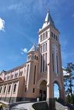 大叻市大教堂 免版税库存图片