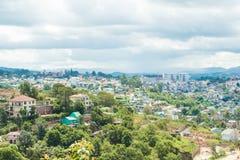 大叻市视图,越南 库存图片