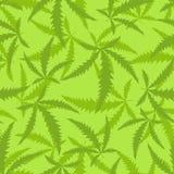 大麻是一个无缝的样式 麻醉植物背景  免版税库存照片