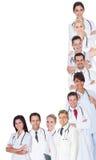 大组医生和护士 库存图片