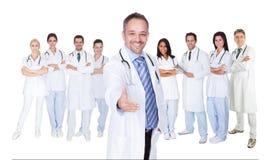 大组医生和护士 免版税图库摄影