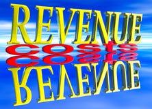 大费用日反映收入小的文本 免版税库存图片