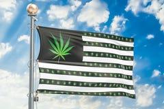 大麻的合法化在美国概念的 美国下垂用大麻 库存例证