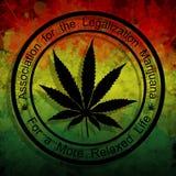 大麻的合法化 皇族释放例证
