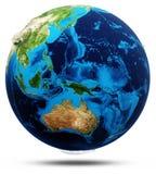 大洋洲真正的安心,修改过的地图 库存图片