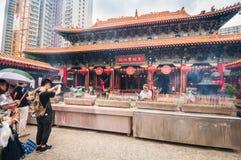 黄大仙神在香港 库存图片