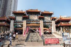 黄大仙祠在香港也称Sik Sik Yuen中国寺庙 图库摄影