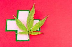 大麻种植和医疗标志 免版税库存照片
