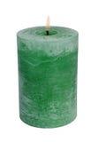 绿色蜡烛 免版税库存照片
