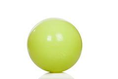 大绿色训练球 库存图片