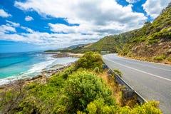 大洋路在维多利亚澳大利亚 免版税库存照片