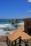 大洋路的12位传道者在维多利亚澳大利亚 免版税库存照片