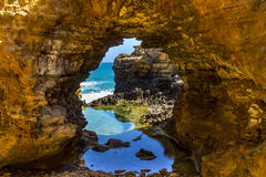 大洋路的洞穴 库存照片