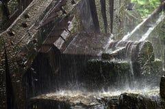 大水车(戽水车)运输从河Orontes的水H的 库存图片