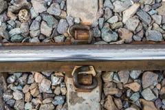 大头钉在乡下的铁路运输 免版税库存照片