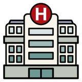大医院大厦 免版税库存照片