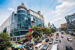 大C特大购物中心,在中央世界对面,在Rajdamri 免版税库存图片